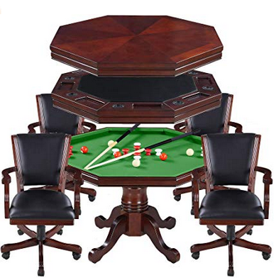 Kingston 3-in-1 Poker Table with 4 Chairs