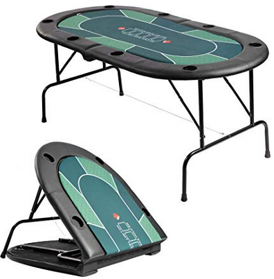 8 Players Folding Poker Table