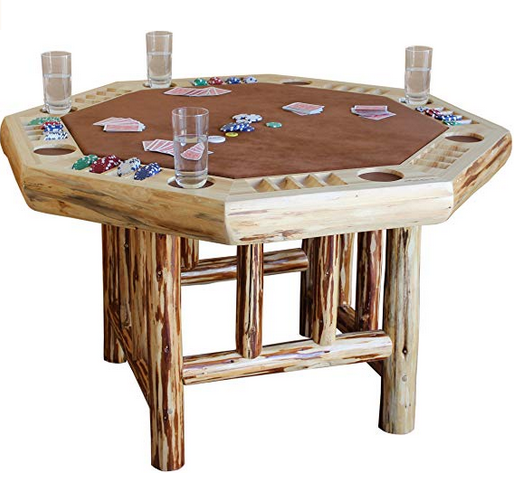 8 Player Octagon Poker Table