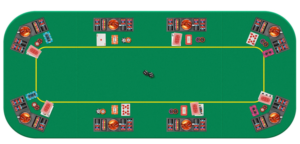 VIVOHOME Foldable 8-Player Texas Poker Card Tabletop Layout Portable Anti-Slip Rubber Board Game Mat with Cup Holders and Carrying Bag review