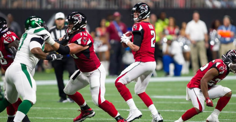 Matt Ryan - week #3 of the 2019 NFL Pre-Season Game Atlanta Falcons Host the New York Jets on Thursday August 15th 2019 at the Mercedes Benz Stadium in Atlanta Georgia USA