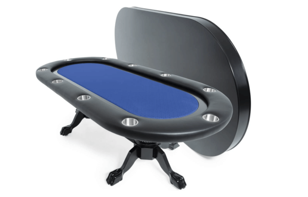 BBO Poker Elite Poker Table for 10 Players, 94 x 44-Inch Oval, Includes Matching Dining Top