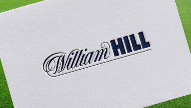 Gibraltar, Gibraltar - November 28 2020: William Hill logo on a paper sheet. William Hill is an online bookmaker registered in Gibraltar.