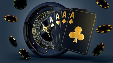 casino mix roulette set card chips 3d render 3d rendering illustration